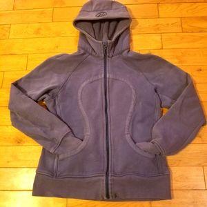 Lululemon   Mauve/ Purple Solid Scuba Hoodie Size 8